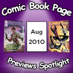 Comic Book Page Previews Spotlight #034: 2010-08