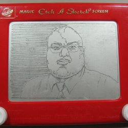 11 sci-fi, fantasy and horror characters drawn on Etch A Sketches