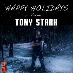 Happy Holidays From Tony Stark!