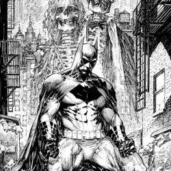 New Batman Black and White